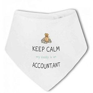 Accountant – Keep Calm my Daddy / Mummy is a … funny – Baby Bandana Bib