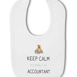 Accountant – Keep Calm my Daddy / Mummy is a … funny – Baby Bib