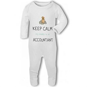Accountant – Keep Calm my Daddy/Mummy is a funny – Baby Romper Suit