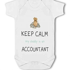 Accountant – Keep Calm my Daddy/Mummy is a funny – Baby Vest
