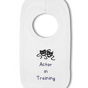 Actor in Training blue – Baby Pullover Bib