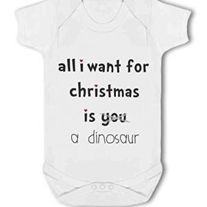 All I Want For Christmas Is A Dinosaur .funny – Baby Vest