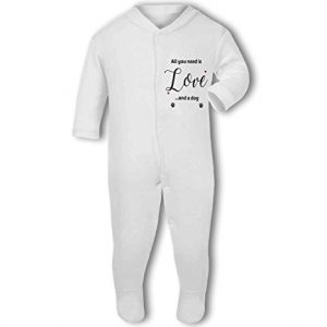 All You Need Is Love And A Dog – Baby Grow