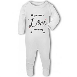 All You Need Is Love And A Dog – Baby Romper Suit