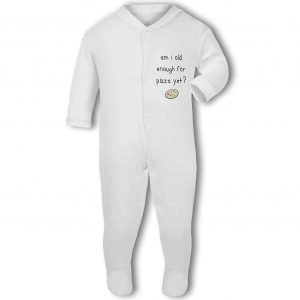 Am I Old Enough For Pizza Yet? – Baby Grow