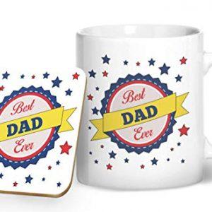 Best Dad Ever – Printed Mug & Coaster Gift Set