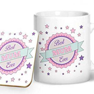 Best Mum Ever Mug & Matching Coaster Set