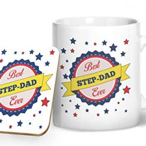Best Step-dad Ever – Printed Mug & Coaster Gift Set