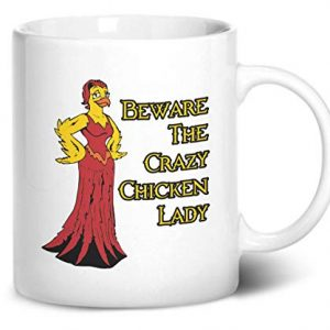 Beware The Crazy Chicken Lady – Printed Mug