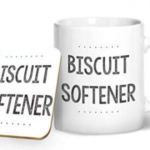 Biscuit Softener – Novelty Mug – Printed Mug & Coaster Gift Set