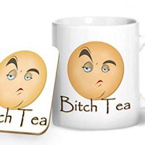 Bitch Tea – Printed Mug & Coaster Gift Set
