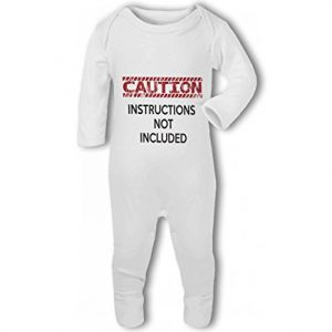 Caution Instructions Not Included funny – Baby Romper Suit