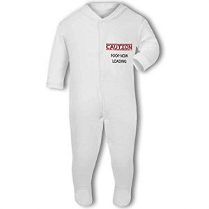 Caution Poop Now Loading funny – Baby Grow