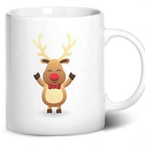 Cute Reindeer Christmas Stocking Filler – Printed Mug