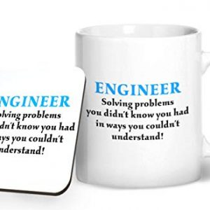 Engineer solving problems you didn't know you had – Printed Mug & Coaster Gift Set