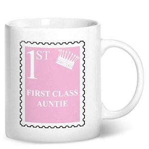 First Class Auntie – Printed Mug