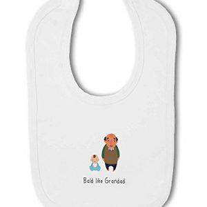 Funny Bald Like Grandad – Baby Bib