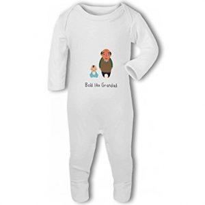 Funny Bald Like Grandad – Baby Romper Suit