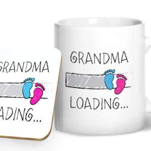 Grandma Loading. – Printed Mug & Coaster Gift Set