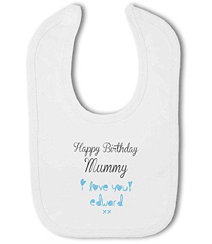 I Love You with personalised name Baby Bandana Bib ... Happy Birthday Uncle..