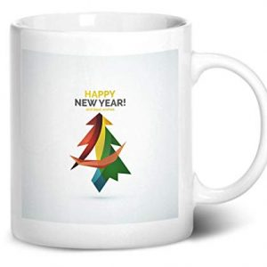Happy New Year Christmas Tree Design 1 – Printed Mug