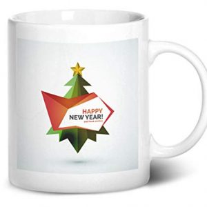 Happy New Year Christmas Tree Design 2 – Printed Mug