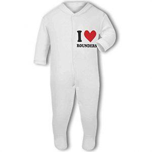 I Love Rounders heart – Baby Grow