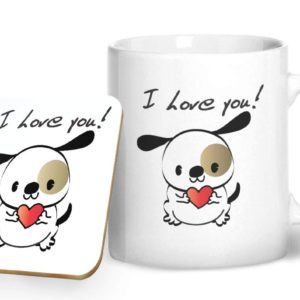 I Love You! – Printed Mug & Coaster Gift Set