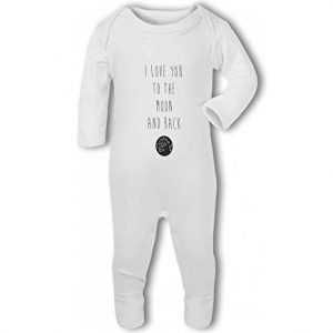 I Love You to the Moon and Back cute – Baby Romper Suit