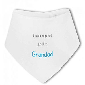 I Wear Nappies just like Grandad funny – Baby Bandana Bib