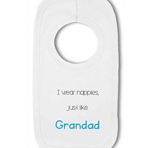 I Wear Nappies just like Grandad funny – Baby Pullover Bib