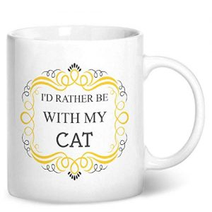 I'd Rather Be With My Cat – Printed Mug