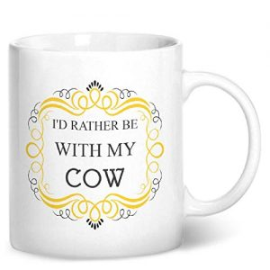 I'd Rather Be With My Cow – Printed Mug
