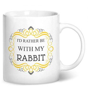 I'd Rather Be With My Rabbit – Printed Mug