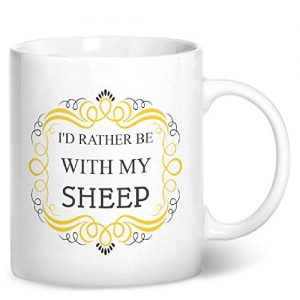 I'd Rather Be With My Sheep – Printed Mug