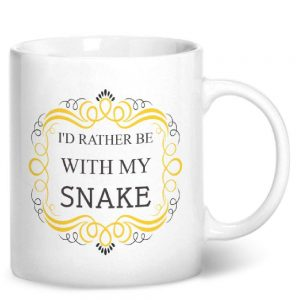 I'd Rather Be With My Snake – Printed Mug