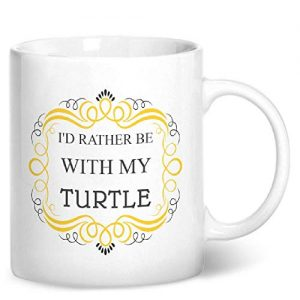 I'd Rather Be With My Turtle – Printed Mug