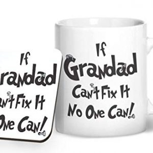 If Grandad Can't Fix It No One Can! – Printed Mug & Coaster Gift Set