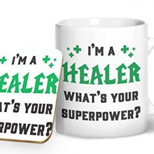 I'm A Healer, What's Your Superpower? Gaming Mug – Printed Mug & Coaster Gift Set