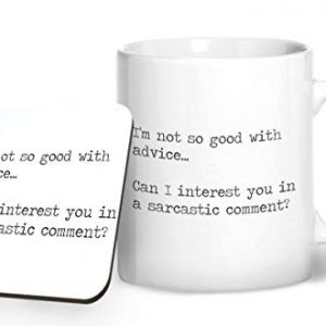 I'm not so good with advice. funny – Printed Mug & Coaster Gift Set