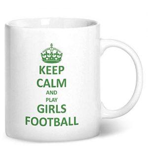 Keep Calm And Play Girls Football – Printed Mug