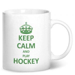 Keep Calm And Play Hockey – Printed Mug