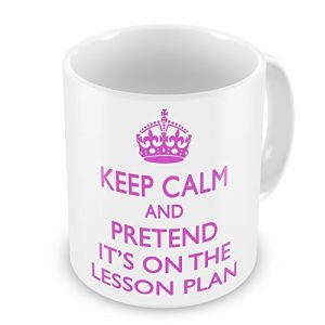 Keep Calm And Pretend It's On The Lesson Plan Mug – Pink