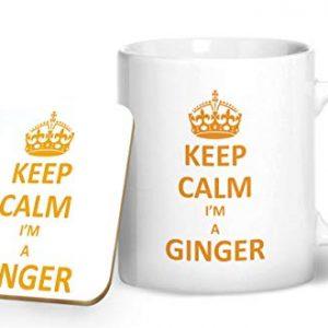 Keep Calm I'm A Ginger – Printed Mug & Coaster Gift Set