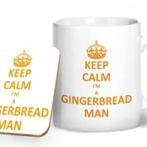 Keep Calm I'm A Gingerbread Man – Printed Mug & Coaster Gift Set