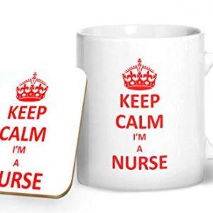 Keep Calm I'm A Nurse – Printed Mug & Coaster Gift Set