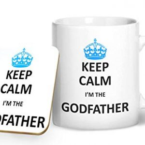 Keep Calm I'm The God Father – Printed Mug & Coaster Gift Set