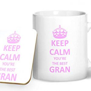 Keep Calm You're The Best Gran Mug And Matching Coaster Set – Printed Mug & Coaster Gift Set
