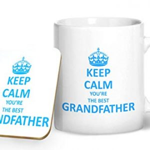 Keep Calm You're The Best Grand Father – Printed Mug & Coaster Gift Set