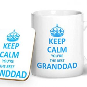 Keep Calm You're The Best Granddad – Printed Mug & Coaster Gift Set